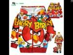 jaket anak karakter angry bird fullcolor