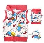 jaket anak karakter hello kitty vest