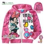 jaket anak karakter minnie mouse flower pink