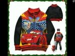 jaket anak karakter the cars mcqueen hitam tebal