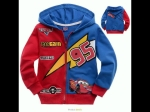 jaket anak karakter the cars mcqueen red blue