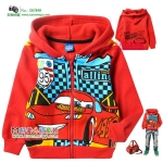 jaket anak karakter the cars mcqueen red hoodie